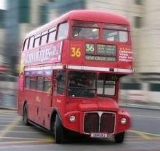 Dubbeldäckare i London